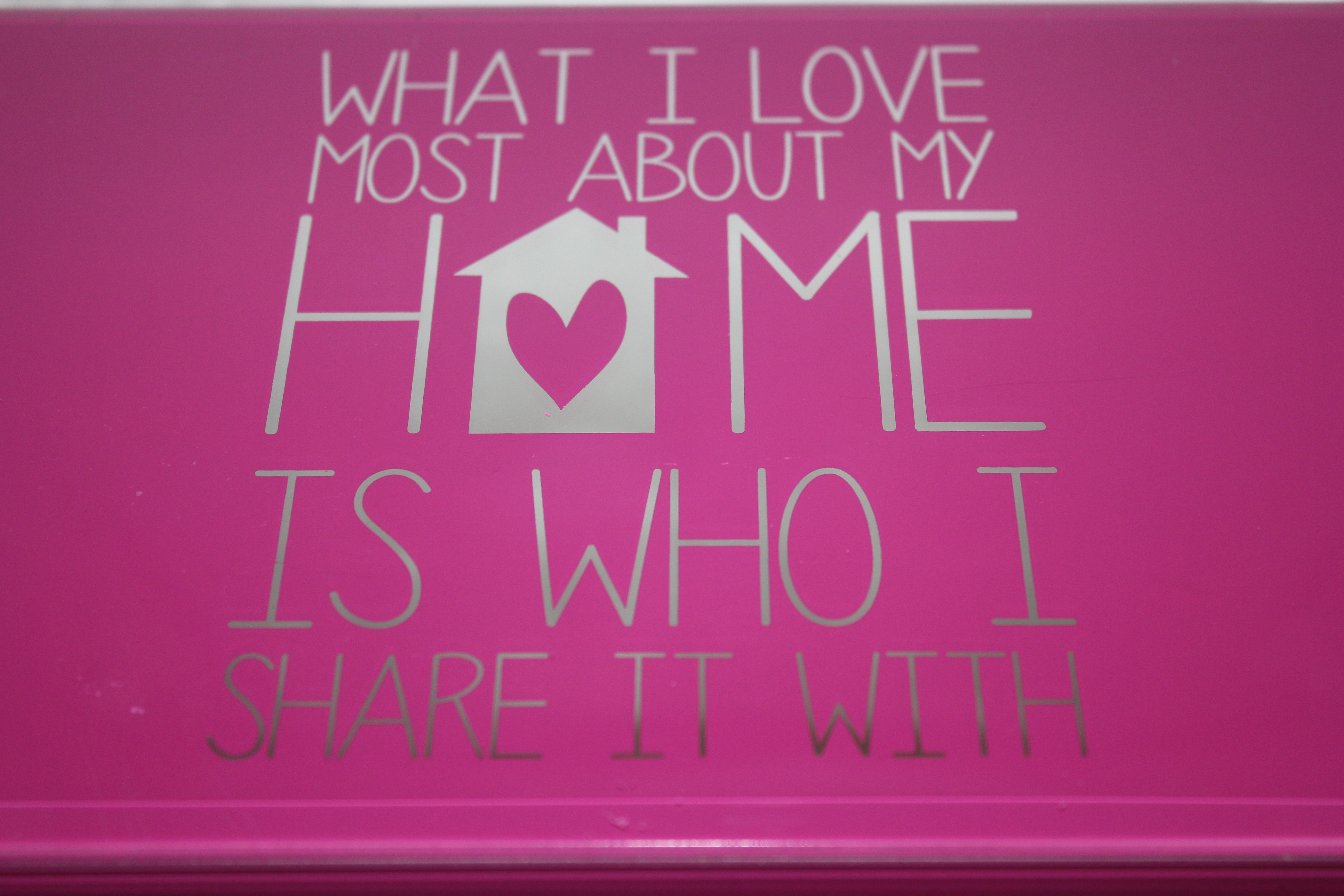 What I love about my home...