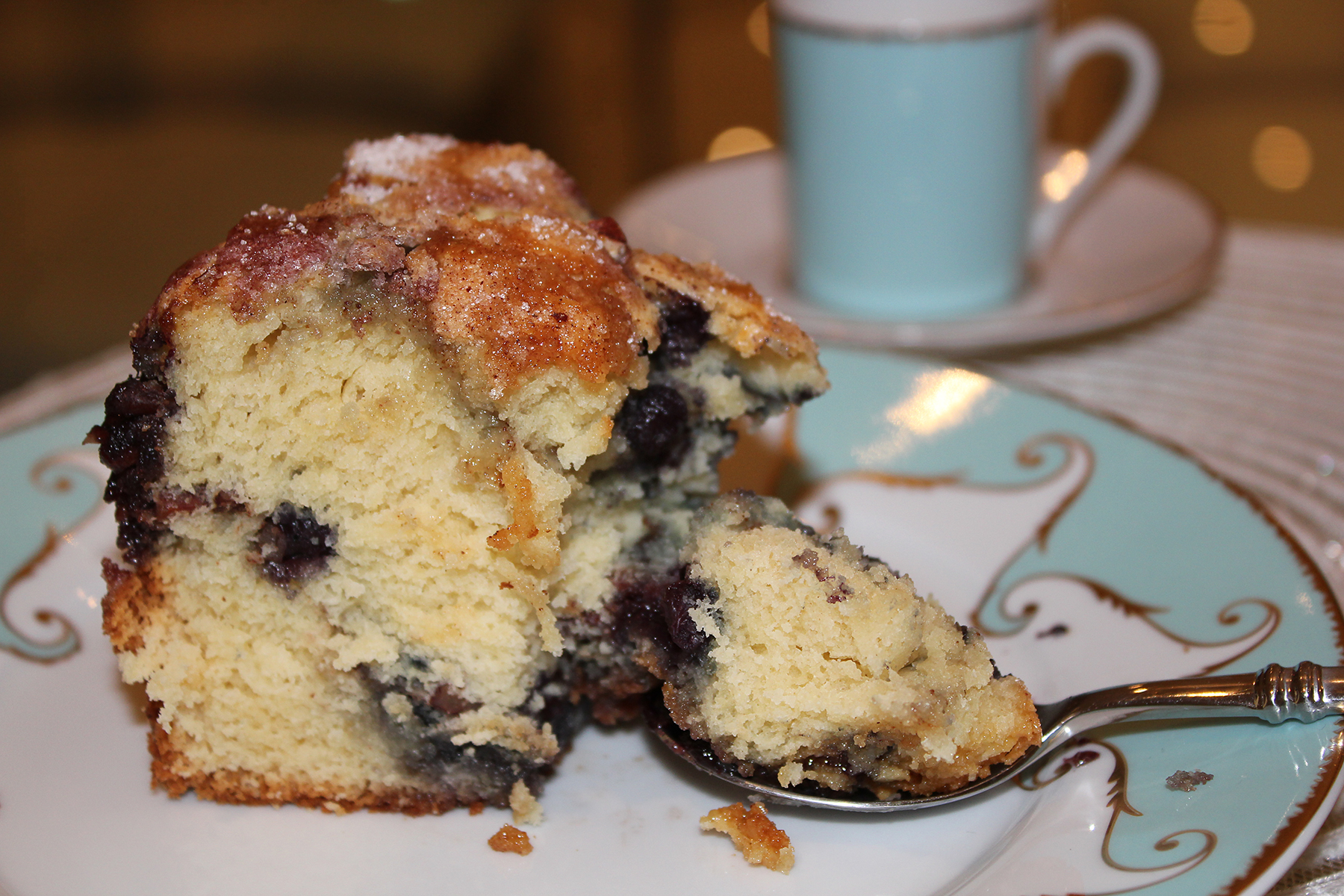 sour cream blueberry coffee cake there is something about coffee